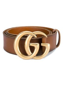 leather-belt-with-double-g-buckle by gucci