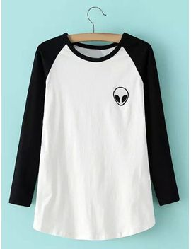 Alien Graphic Baseball Tee by Sammy Dress