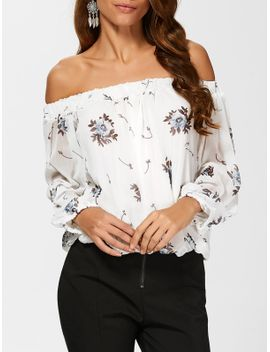 Chiffon See Through Floral Blouse by Sammy Dress