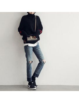 Naning9   Turtle Neck Oversized Sweater by Brand From South Korea