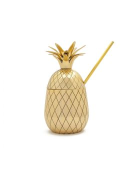 Large Pineapple Tumbler Gold by Wp Design