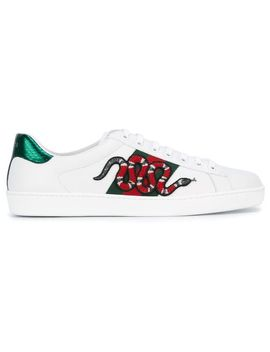 snake-ace-embroidered-leather-sneaker by gucci
