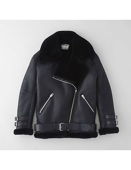 Velocite Shearling Lined Moto Jacket by Acne Studios