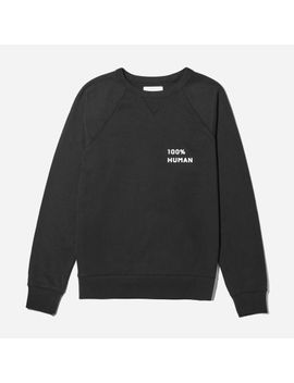 the-100%-human-unisex-french-terry-sweatshirt-in-small-print by everlane