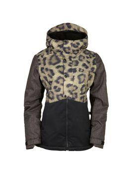 686 2017 Authentic Rumor Insulated (Leopard Colorblock) Women's Snowboard Jacket by Ambush Board Co