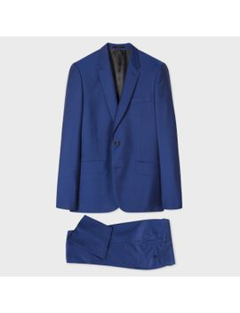 Men's Tailored Fit Indigo Wool Mohair 'a Suit To Travel In' by Paul Smith
