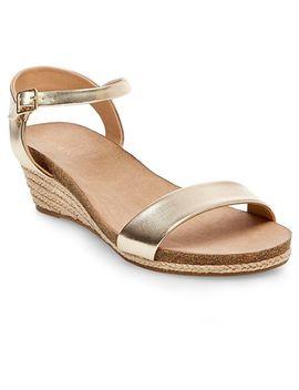 Women's Eve Wide Width Footbed Ankle Strap Wedge Sandals   Merona™ by Merona™