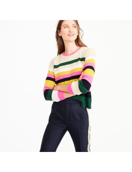 9020ba694e9 J.CREW. POP-STRIPE ITALIAN CASHMERE SWEATER
