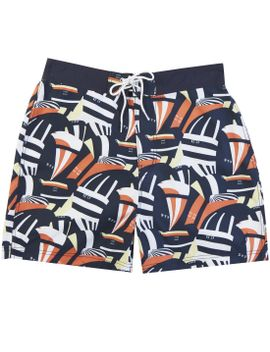 "Quick Dry 18"" Coastal Sails Print Swim Trunk by Nautica"