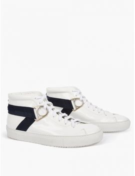 White Leather Airborne Sneakers by Oamc