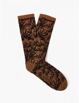 Plant Motif Cotton Socks by Lanvin