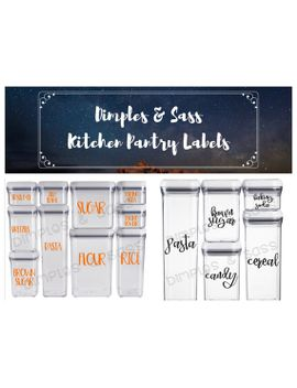 shoptagr kitchen container organizational labels customizable