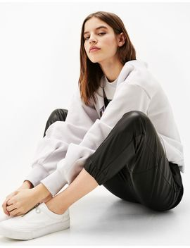 faux-leather-jogger-trousers by bershka
