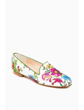 Provence Floral Linen Gentry Loafers by Tuckernuck