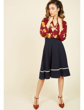 bugle-joy-midi-skirt-in-scarletbugle-joy-midi-skirt-in-scarlet by modcloth