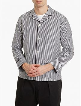 Striped Alan Cotton Overshirt by Officine Generale