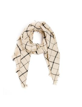 Ivory Check Wallace Scarf by Tuckernuck
