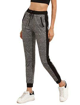 sweatyrocks-womens-drawstring-waist-long-workout-yoga-legging-active-pant-with-pocket by sweatyrocks