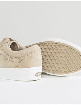 shoptagr vans premium suede old skool sneakers in beige. Black Bedroom Furniture Sets. Home Design Ideas