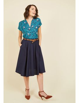 breathtaking-tiger-lilies-midi-skirt-in-stem-green by modcloth