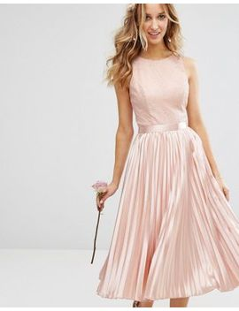 chi-chi-london-lace-bodice-midi-dress-with-pleated-satin-skirt by chi-chi-london