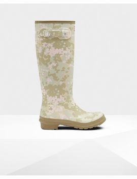 Women's Original Tall Flecktarn Camo Rain Boots by Hunter