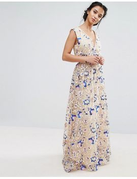 TRUE DECADENCE PETITE. TRUE DECADENCE PETITE PREMIUM FLORAL EMBROIDERED  MAXI DRESS
