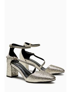 Thin Strap Two Part Shoes Reversible Clutch Bag by Next