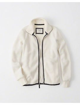 Active Full Zip Sherpa Jacket by Abercrombie & Fitch