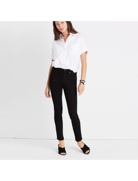 "Tall 9"" High Rise Skinny Jeans In Isko Stay Black™ by Madewell"
