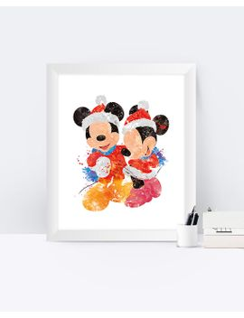 Shoptagr | Mickey Mouse Minnie Mouse Christmas Watercolor Minnie And ...