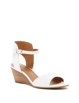 14th & Union Tansie Leather Wedge Sandal