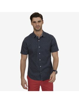 Tailored Fit Printed Short Sleeve Shirt by Nautica