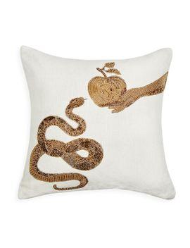 muse-snake-&-apple-throw-pillow by jonathan-adler