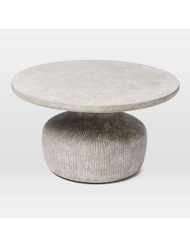 Shoptagr Tambor Concrete Outdoor Drum Coffee Table By West Elm - West elm drum table