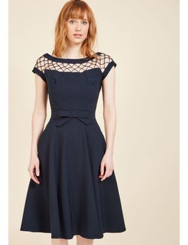 with-only-a-wink-a-line-dress-in-navy by modcloth