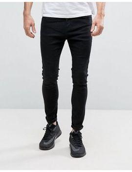bershka-super-skinny-jeans-in-washed-black by bershka