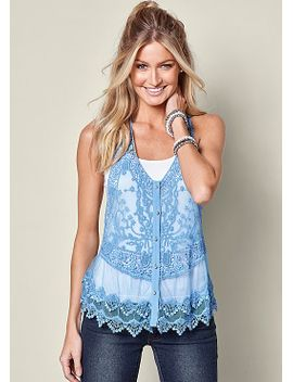 lace-button-front-top by venus