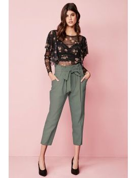 Point Leather Court Shoes Black Ruffle Mesh Stud Top Green Paper Bag Tie Waist Taper Trousers Thin Strap Vest by Next