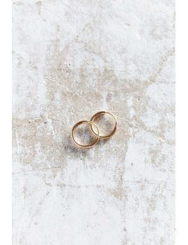 Seoul Little X Uo 18k Gold Small Hoop Earring by Urban Outfitters
