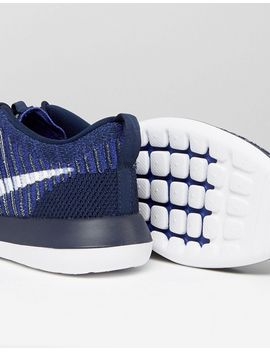 Roshe Two Flyknit Trainers In Blue 844833-402 - Blue Nike