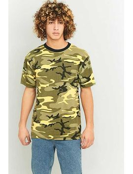 Urban Renewal Vintage Surplus Rothco Stinger Yellow Camo T Shirt by Urban Renewal Vintage