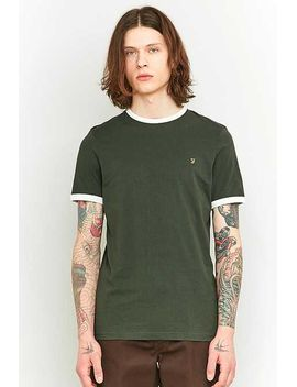 Farah Groves Green And Ivory Ringer T Shirt by Urban Outfitters