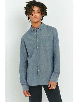 farah-teller-dark-denim-long-sleeve-shirt by urban-outfitters
