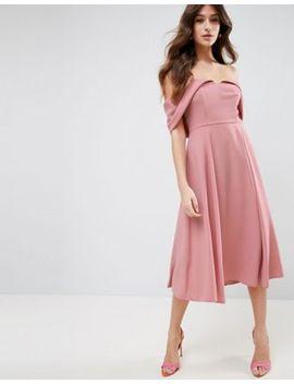 asos-bardot-fold-over-midi-prom-dress by asos-collection