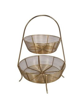 2-tier-gold-plated-wire-basket---threshold by shop-collections