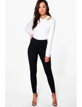 shrea-thick-ponte-high-waist-leggings by boohoo