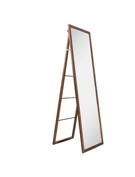 wood-ladder-standing-floor-mirror-walnut---threshold by shop-this-collection