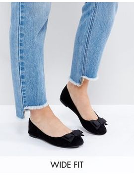 new-look-wide-fit-bow-front-ballet-pump by new-look