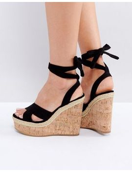 asos-tambourine-tie-leg-wedges by asos-collection